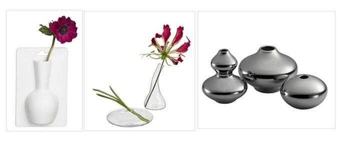 CB2: Ada Hanging Vase, Mini Bud Vases, Mercury Vases