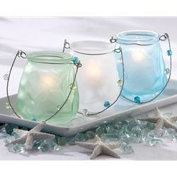 Sea glass luminaries