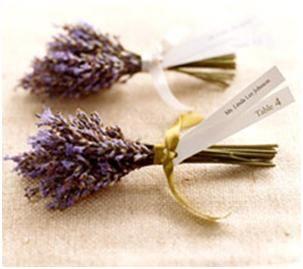 Lavender Mini Bouquets- Wedding Favor Place Cards