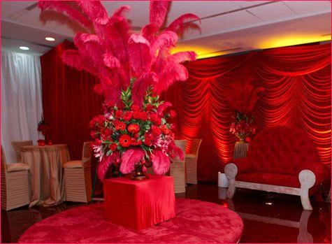 Retro Lounge Room Dressed in Vibrant Reds