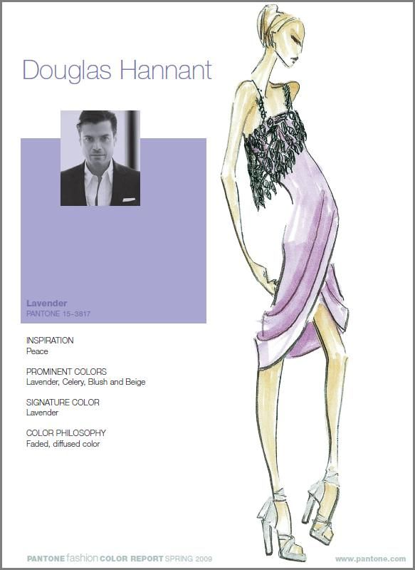 Douglas Hannant incorporates Lavender, Celery, Blush and Beige