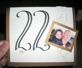 table number cards with picture of bride and groom