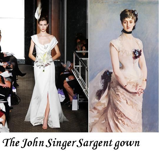 This John Singer-inspired wedding dress was truly a piece of art