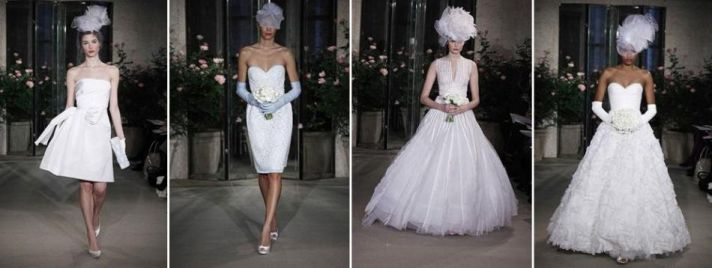 Oscar de la Renta- Spring 2010 bridal collection- short and chic, full skirts, headpieces