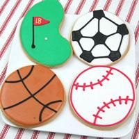 Fun and yummy cookies inspired by your groom's favorite sport