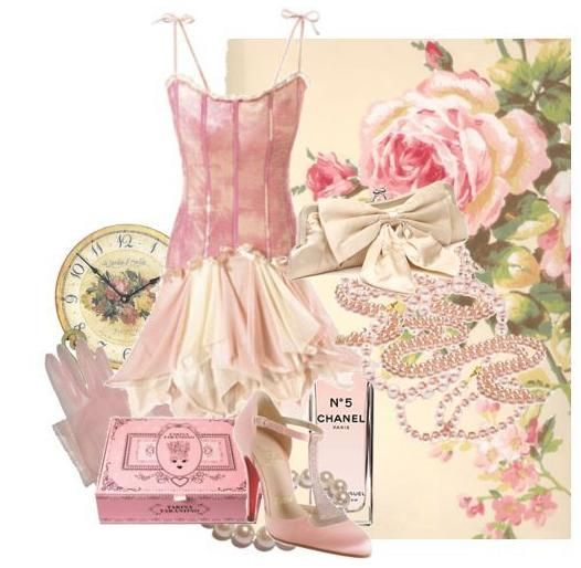 Corset pink dress with ivory accessories- perfect for summer cocktail party wedding