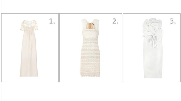 White dresses for your wedding from Temperley, Alexander McQueen, and Designers Remix Collection