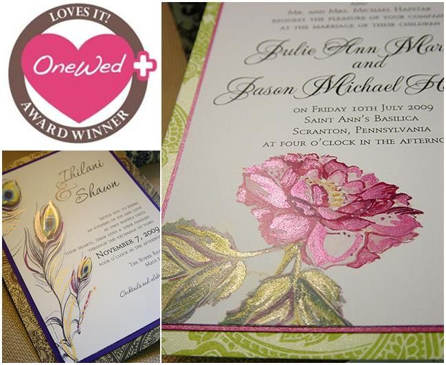 Savvy Steals Winner- Hand-Painted Wedding Stationery Designed by a True Artist goes to…