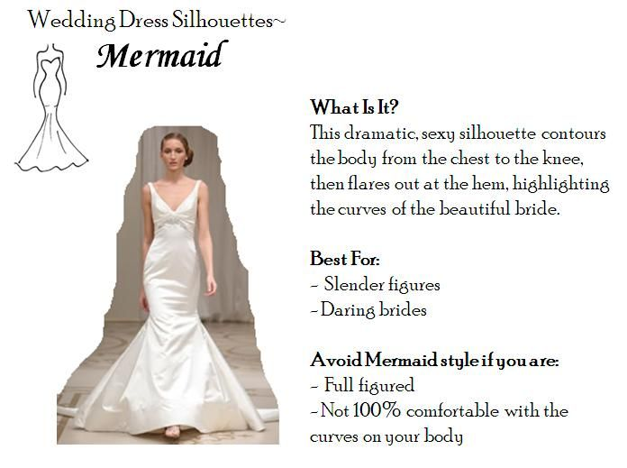 Mermaid wedding dresses are perfect for slender figures