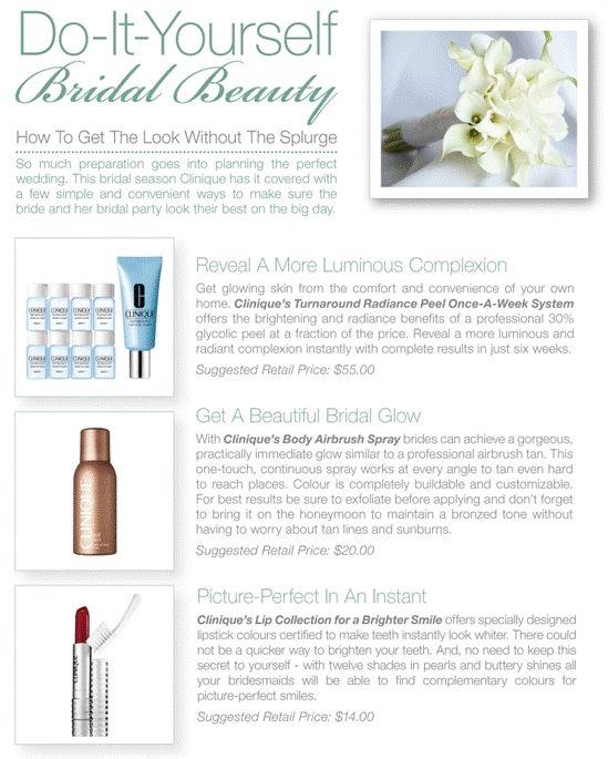 clinique DIY wedding make-up