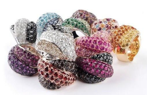 """Gorgeous """"Gomitolo"""" rings from Italian jeweler Damiani- buy one and get a week long vacation to Ital"""
