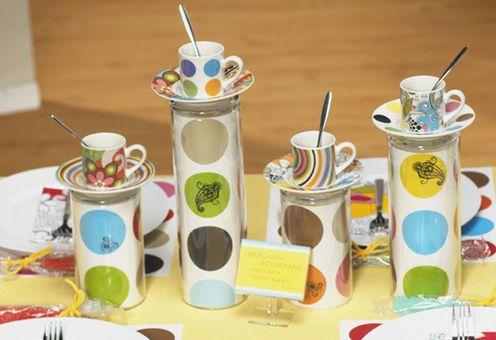 A bright coffee display