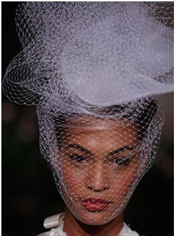 Oscar de la Renta: Pancake hat with netting