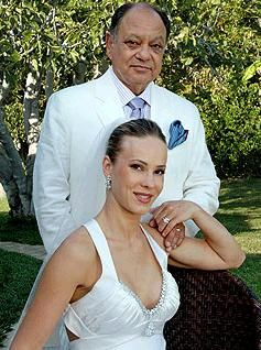 Cheech Marin weds Russian pianist- she wears an Amy Michelson wedding dress