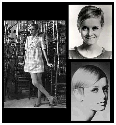 Model Twiggy wore shift dresses in ads for Vogue and Harper's Bazaar