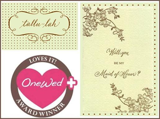 OneWed loves Tallu-lah stationary and letterpress notes.