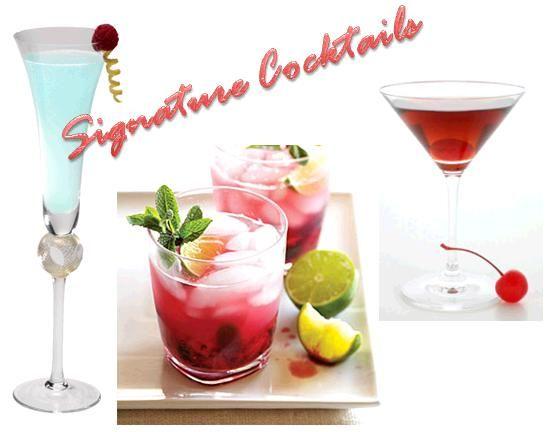Favorite signature drinks- The Manhattan,, Something Blu, and Rasberry Mojito