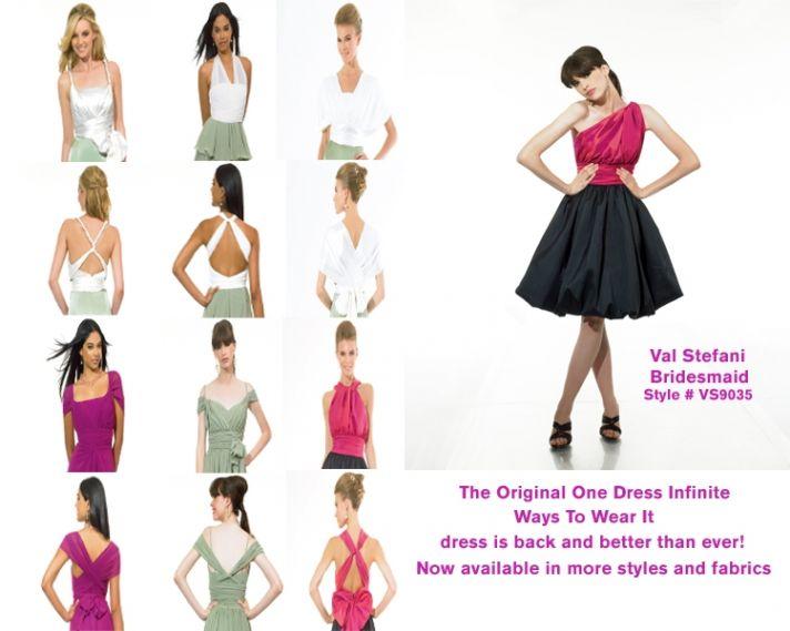 Versatile, colorful one-shoulder bridesmaids' dresses with a cute bubble skirt