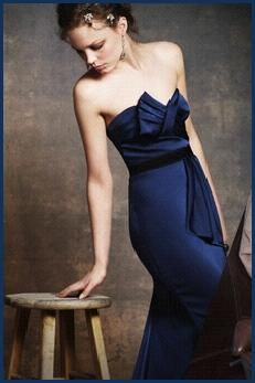 Blue Evening Dress on Beautiful Bcbg Midnight Blue Strapless Evening Gown With Bow Detail At
