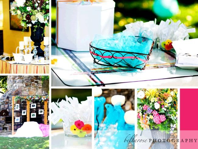 Fun and flirty aqua and fuschia outdoor wedding in Utah- wedding details and inspiration