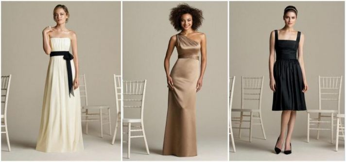 Gorgeous and affordable chic bridesmaids dresses from After Six
