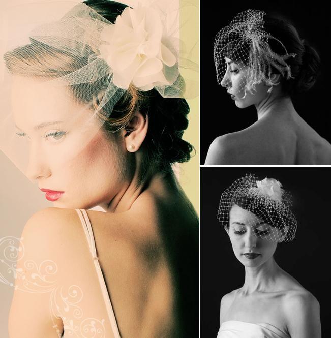 Sara Gabriel couture bridal veils and headpeices- flower applique, alencon lace, feathers