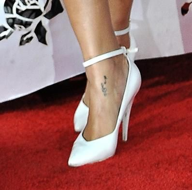 Chic white ankle strap pumps- worn my Rihanna at the 2009 AMA's