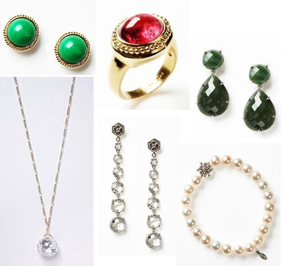 Ruby, emerald, and white topaz bling for the holiday season and all year long- Anzie Jewelry on Gilt