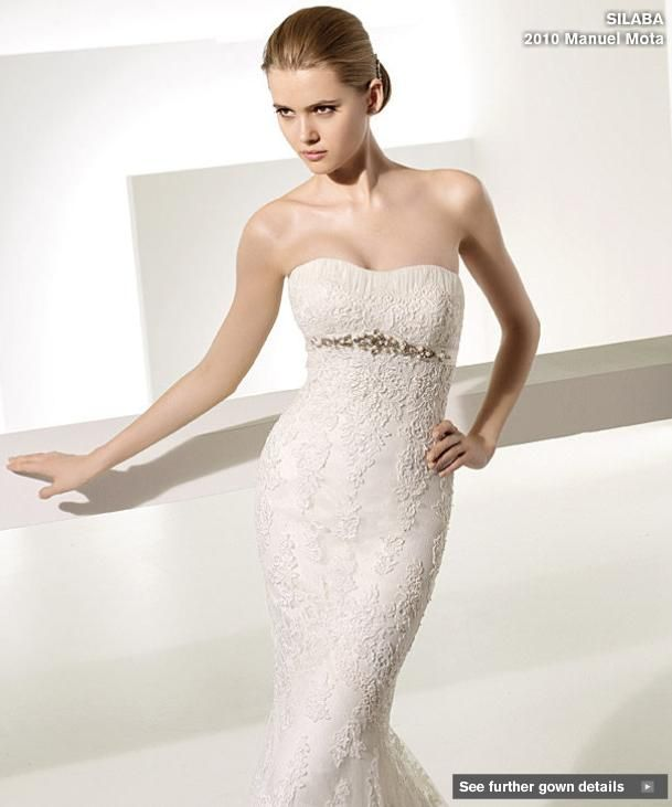 My ideal wedding dress from Pronovias- strapless lace Manuel Moto creation!
