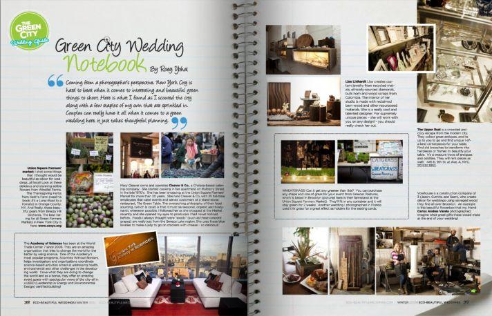 Eco Beautiful Weddings Green Cities NYC
