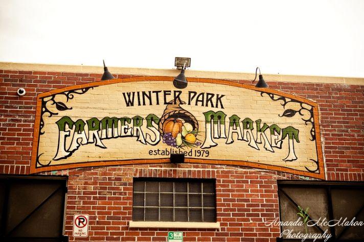 Outside of wedding venue- red brick Winter Park Farmers Market