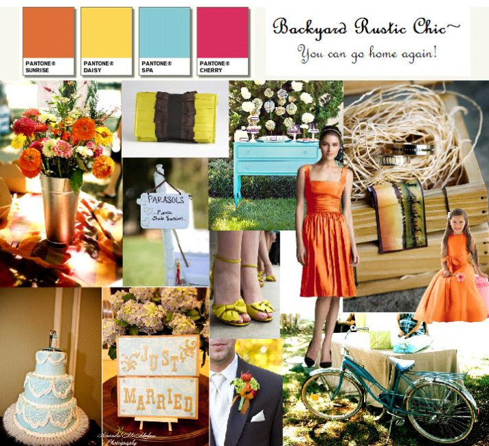 Go Rustic Chic for your wedding, where your mom's backyard can serve as your wedding venue!