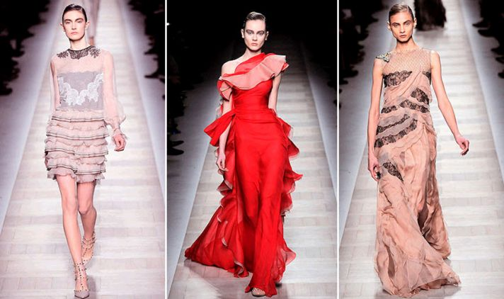 Hints of lace and lots of ruffles made up Valentino's Fall 2010 collection!