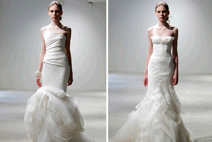 vera wang sweetheart mermaid wedding dresses