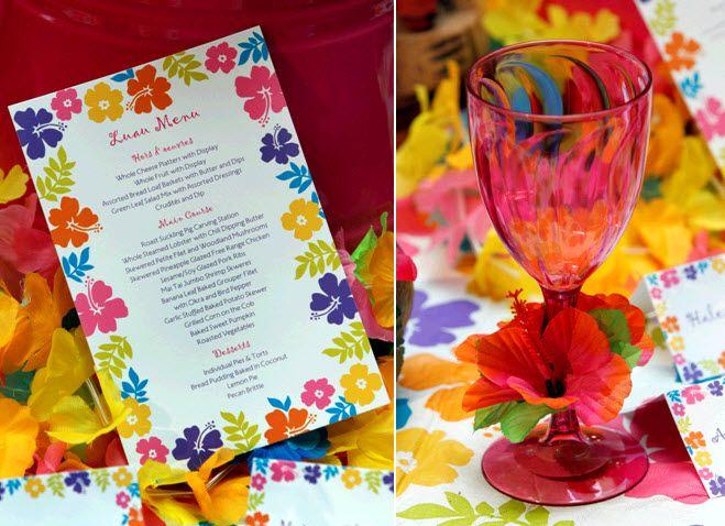 Plan a vibrant luau-themed rehearsal dinner in ten easy steps!