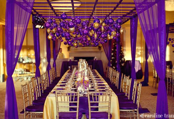 gold and purple wedding decor yellow amp gold reception decorations yellow amp gold 4519