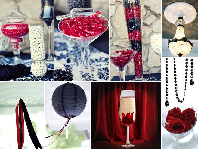 Red Black Champagne Wedding Colors Red Black And White Wedding