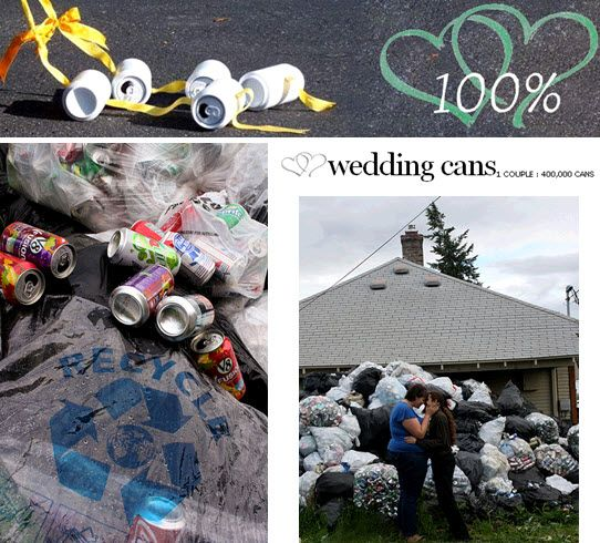 Couple collects 400,000 recyclable aluminum cans to fund July 31 wedding!