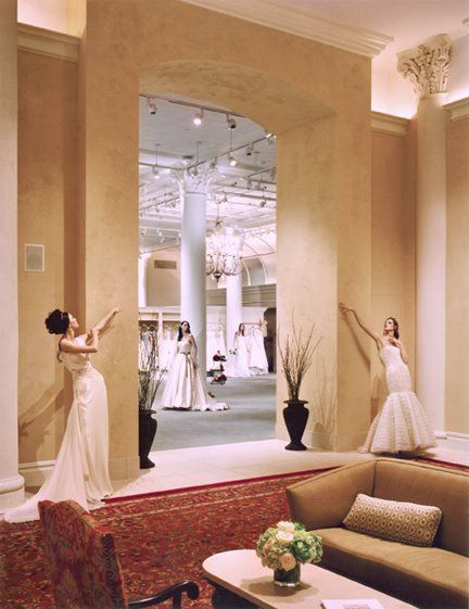 Find your dream wedding dress, and meet your favorite designer, at a bridal shop trunk show