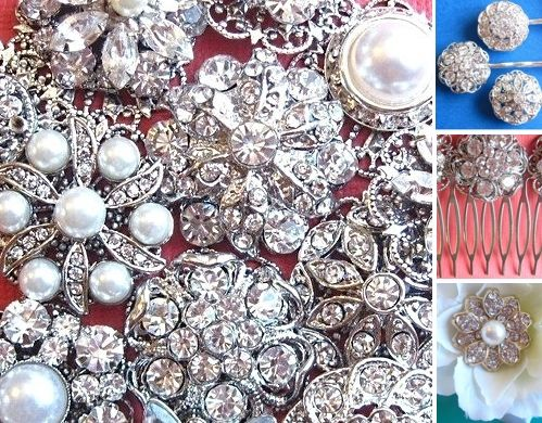 Buy antique gems and stones to make your own unique bridal hairpiece, or buy a vintage piece already