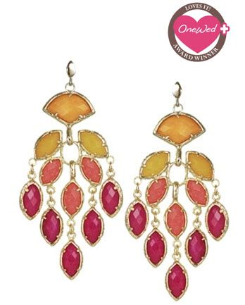 Comment on any Savvy Scoop blog post this week, and you might win these stunning chandelier earrings