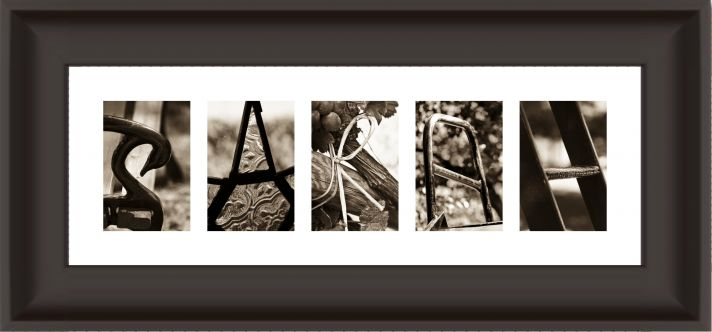 Win a custom Alphabet frame for your new home as husband and wife
