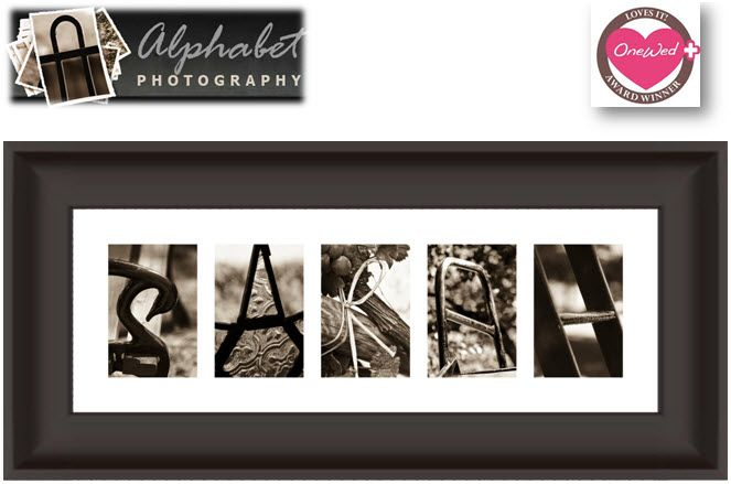 Custom art for your home created with artistic photographs that resemble the letters of the alphabet