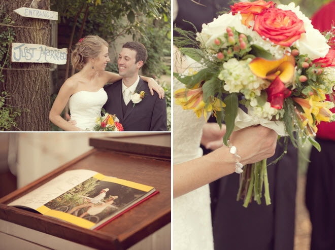 Bride 39s rustic bridal bouquet with coral roses yellow and ivory flowers