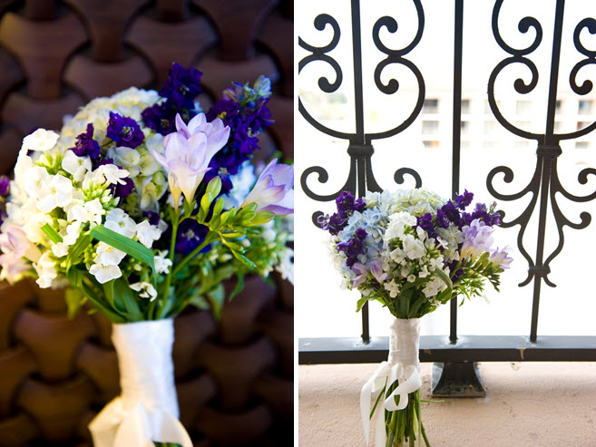 and chic wedding flowers purple white and green floral bridal bouquet
