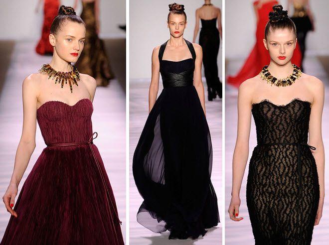 Gorgeous necklines from Monique Lhuillier's latest couture collection