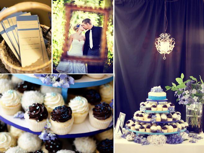 Delicious cupcake tree display at wedding reception