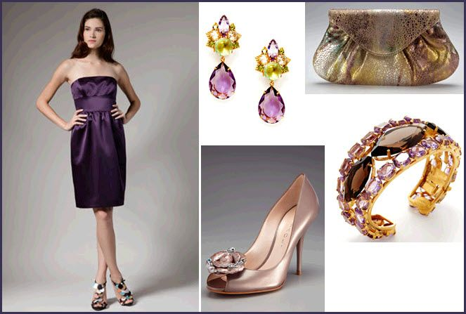 Passionate about purple? Try this look for your lovely bridesmaids!
