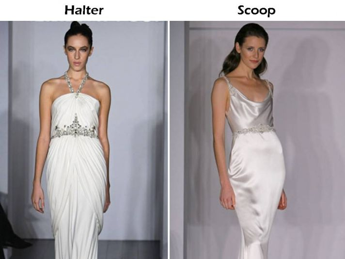 Halter and scoop neck wedding dresses from Kenneth Pool