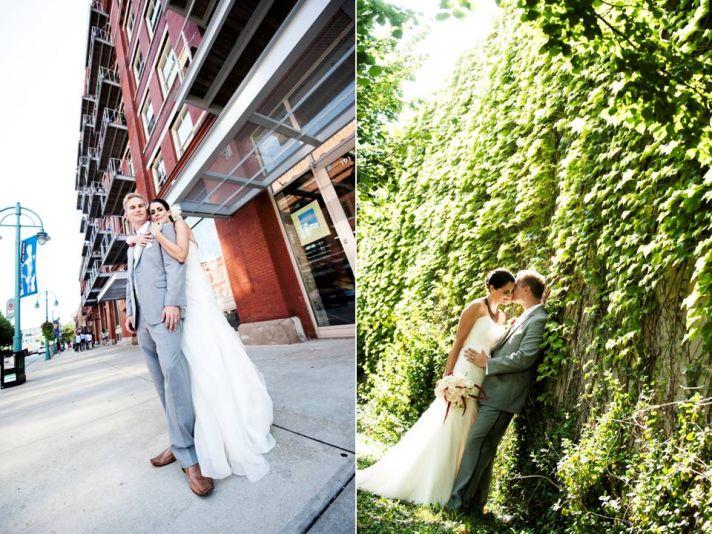 Gorgeous Milwaukee bride and groom take romantic couples photos